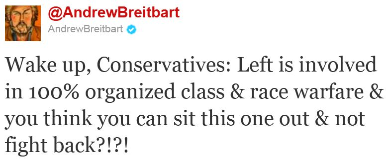 Twitter - @AndrewBreitbart - Wake up