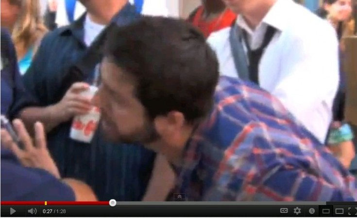Chick-fil-A Kiss In Chicago Protester in Plaid