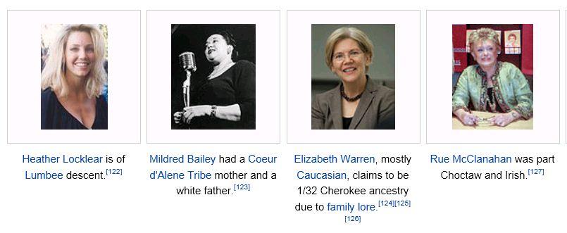 Elizabeth Warren Wikipedia White Native Americans photos