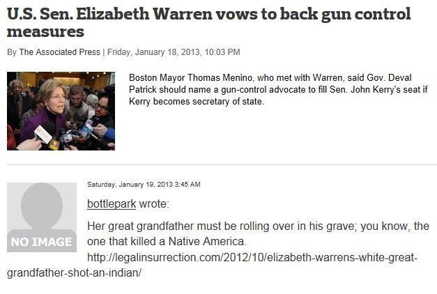 MassLive Comment Warren Gun Control