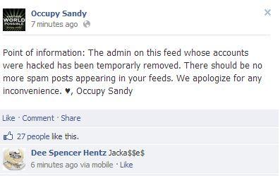 occupy sandy faceboo