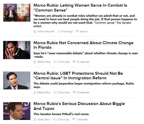 BuzzFeed Politics - Rubio interview headlines