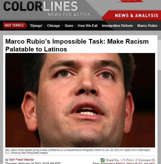 Colorlines Marco Rubio make racism palatable to latinos