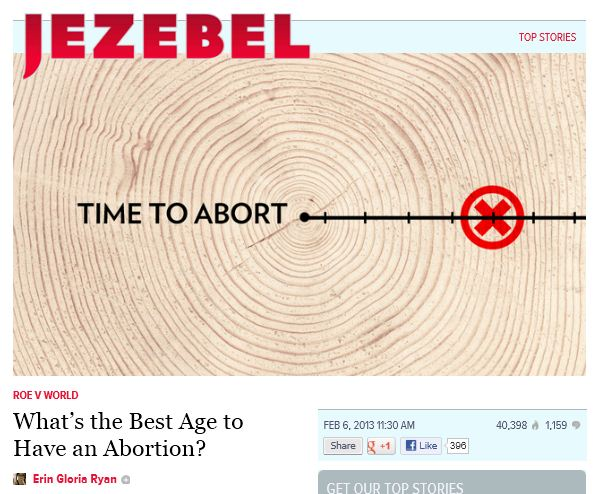 Jezebel - Best time to abort