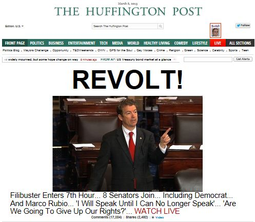 HuffPo - Rand Paul Filibuster