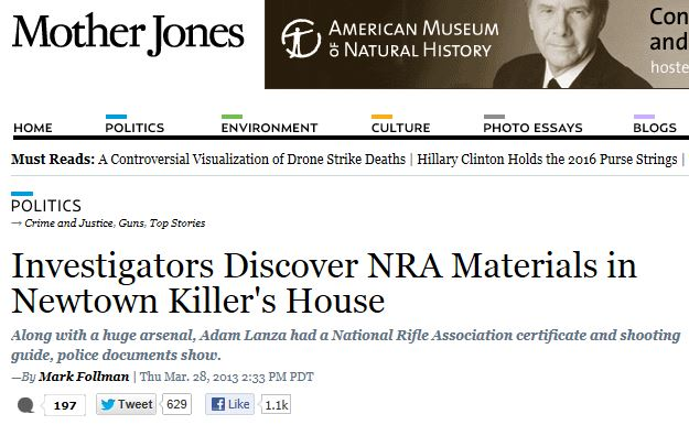Mother Jones Lanza NRA