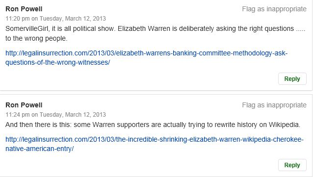 Patch Comments Ron Powell re Warren