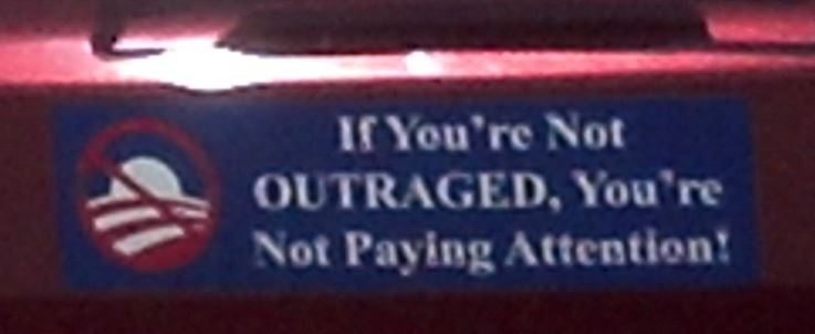 Bumper Sticker - Fernandina Beach FL - Outraged