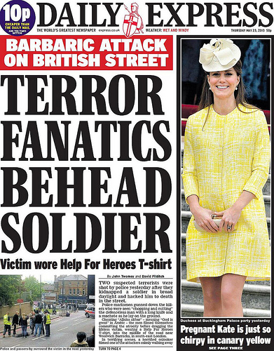 Daily Express Cover - Machete Terror Attack