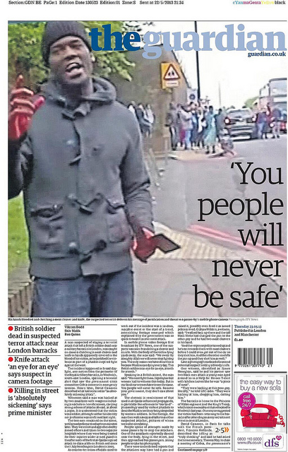 The Guardian Cover - Machete Terror Attack
