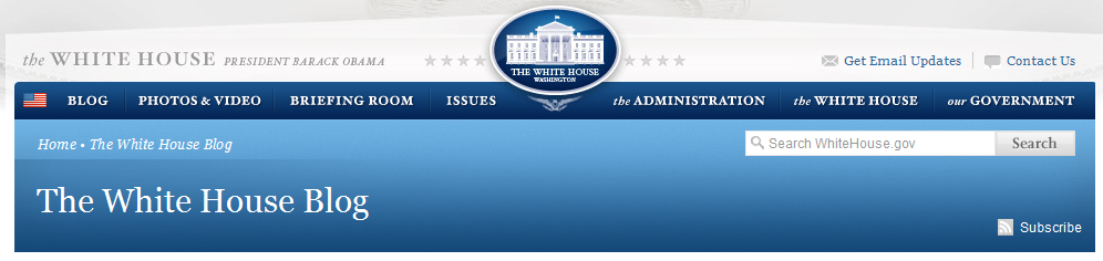 White House Blog Banner