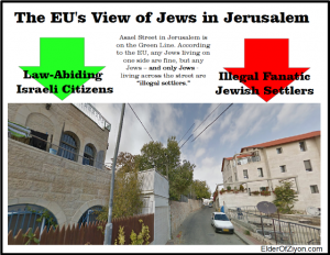 One side of street good Jews; the other, bad Jews