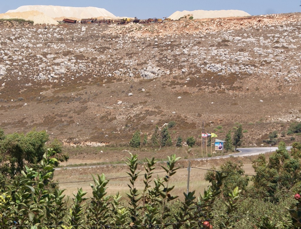 (Hezbollah fortifications overlooking Metula, Israel)(photo Hadar Sela)