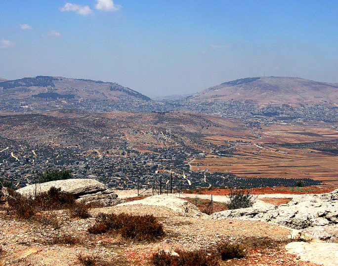 "(""Three Seas"" lookout point facing towards Nablus, Itamar, Samaria, Israel)"