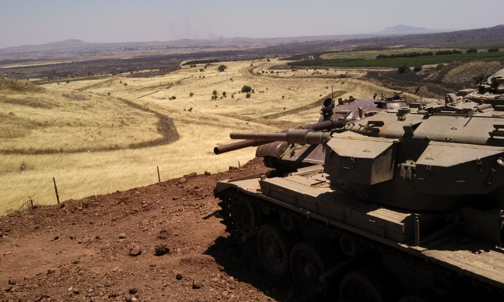 [Valley of Tears Monument - Golan Heights - Israeli and Syrian Tanks][Photo by William Jacobson]