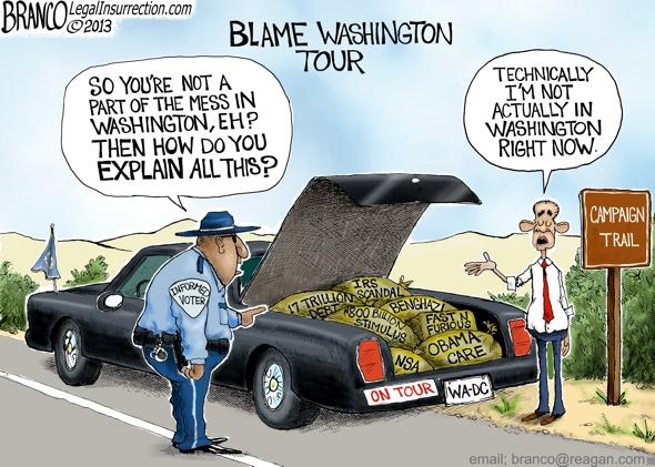 Obama Blames Washington