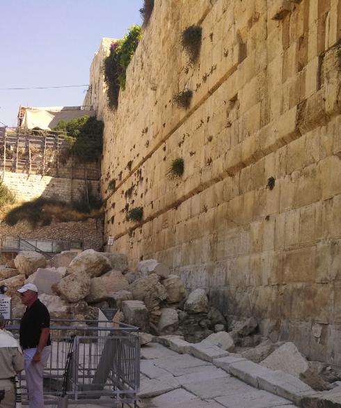Western Wall Fallen Stones