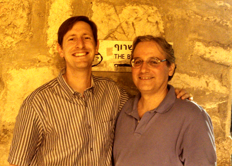 William A. Jacobson and Aussie Dave Old City Jerusalem