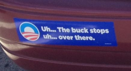 Bumper Sticker - Parker CO - Buck Stops