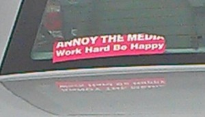 Bumper Sticker - Charlotte NC - work hard