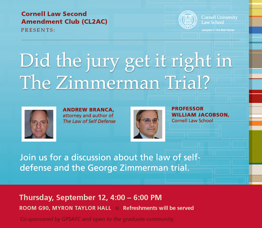 Cornell Event Posted - Zimmerman Trial