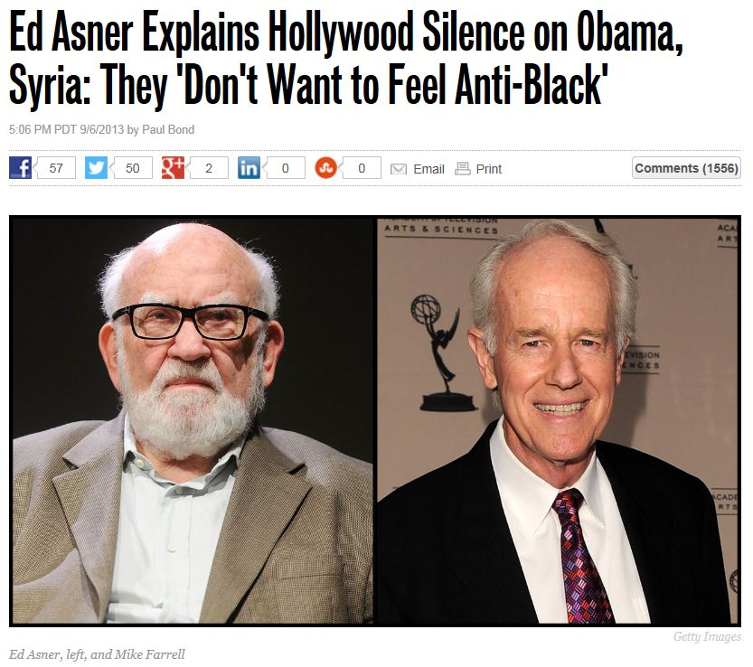 Hollywood Reporter Asner Syria
