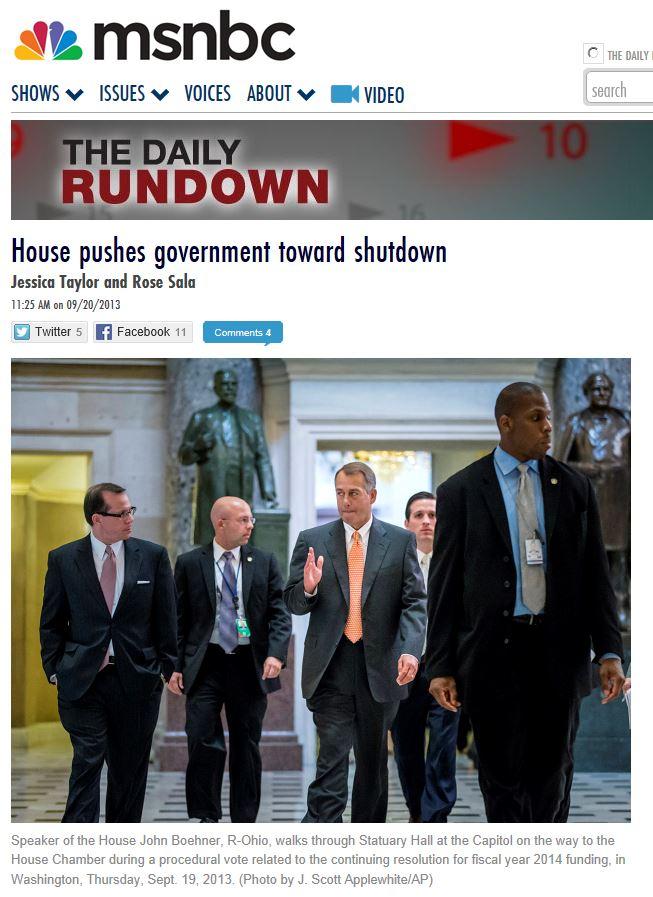 MSNBC shutdown