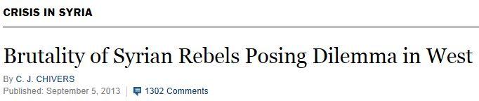 NYT Brutality of Rebels