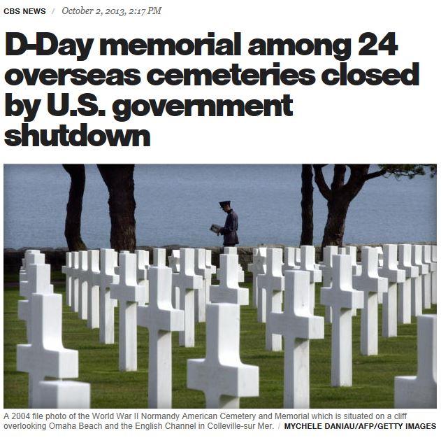 CBS Normandy memorial closed