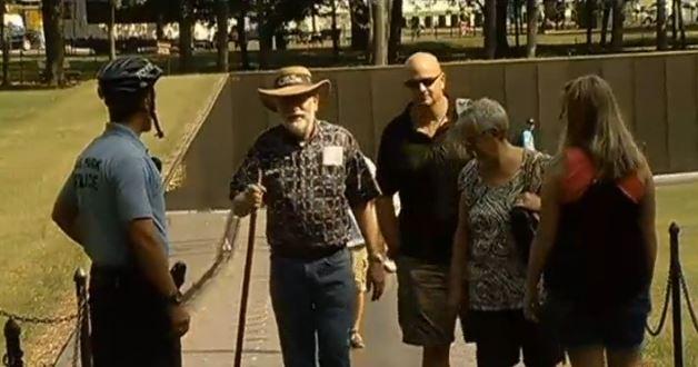 Vietnam Memorial Barricaded