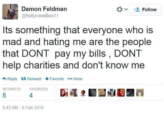Damon Feldman Zimmerman DMX boxing match cancel Twitter