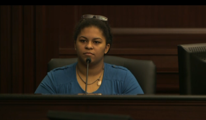 """Loud music"" murder trial witness, Mariah Grimes, gas station clerk, witness of events of shooting"