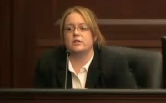 """Loud music"" murder trial witness, Samantha Eichas, parts delivery driver, witness of events of shooting"