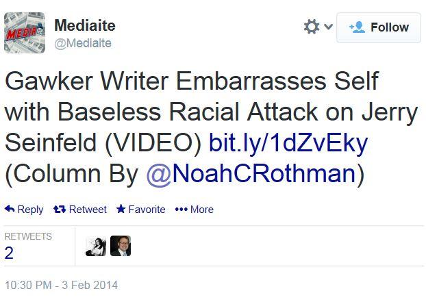 Twitter Mediaite Seinfeld Diversity