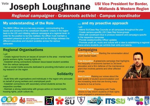 Joseph Loughnane campaign poster