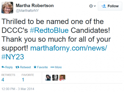 Martha Robertson Red To Blue Tweet 3-3-2014