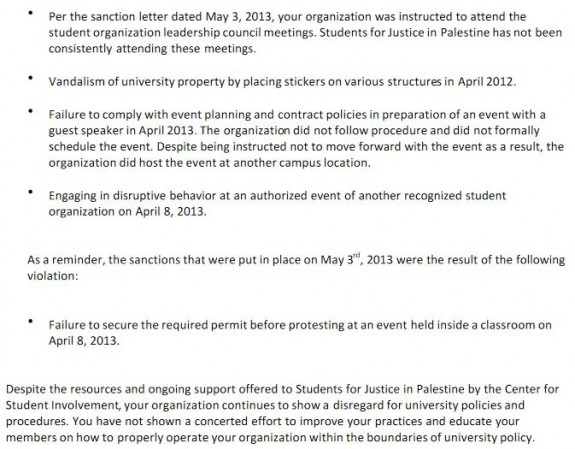 Northeastern SJP Suspension Notice 3