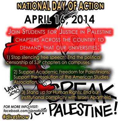 SJP National Day of Action April 16 2014