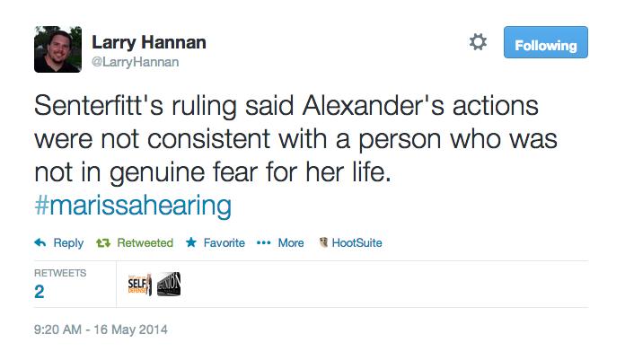 Senterfitt's ruling said Alexander's