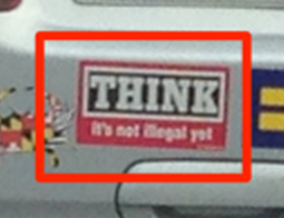 Bumper Sticker - Maryland - Think Close Up