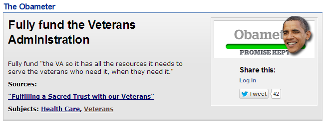 Obama Fully Fund Veterans Administration PolitiFact