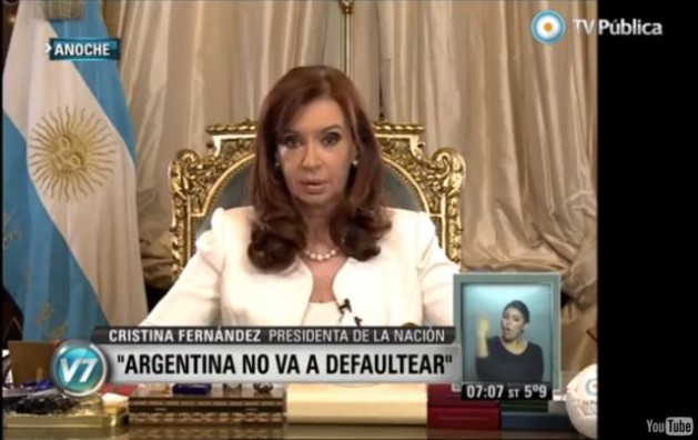 Kirchner Argentina Default
