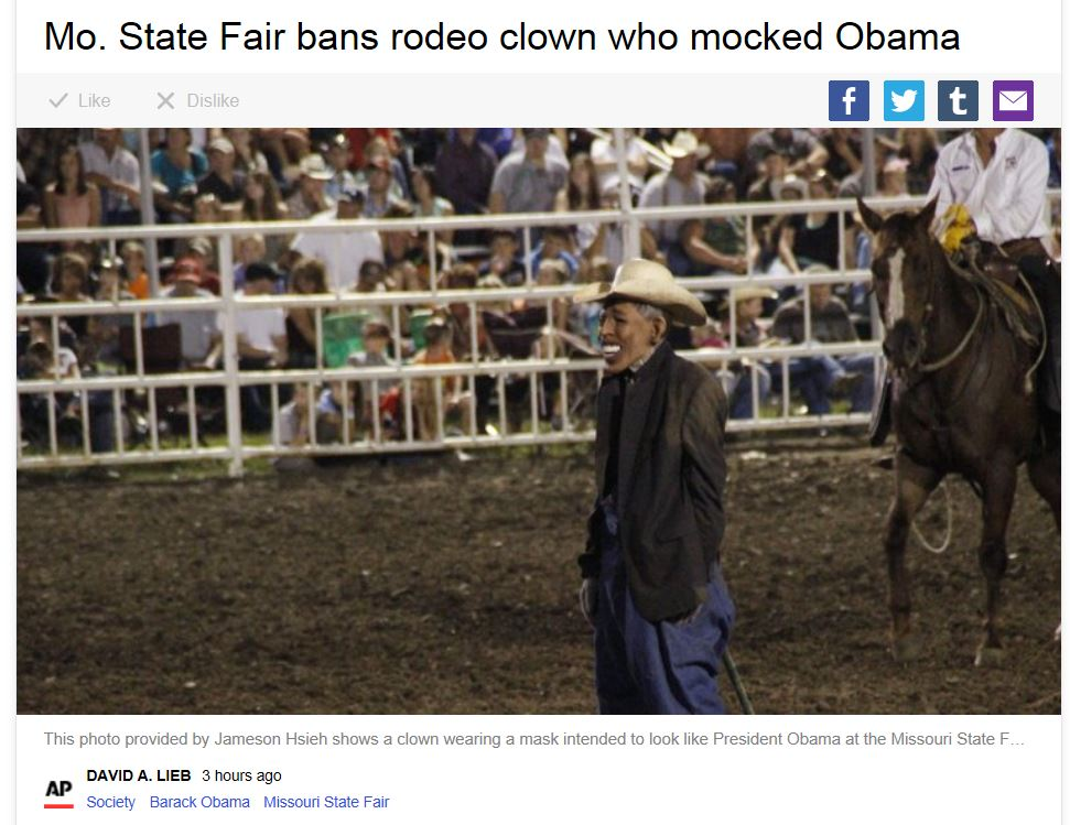 AP Rodeo Clown Fired