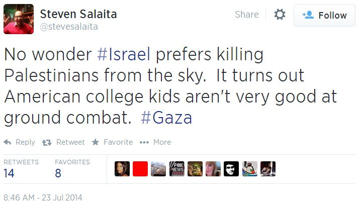 Twitter - @SteveSalaita - American college kids not good at ground combat