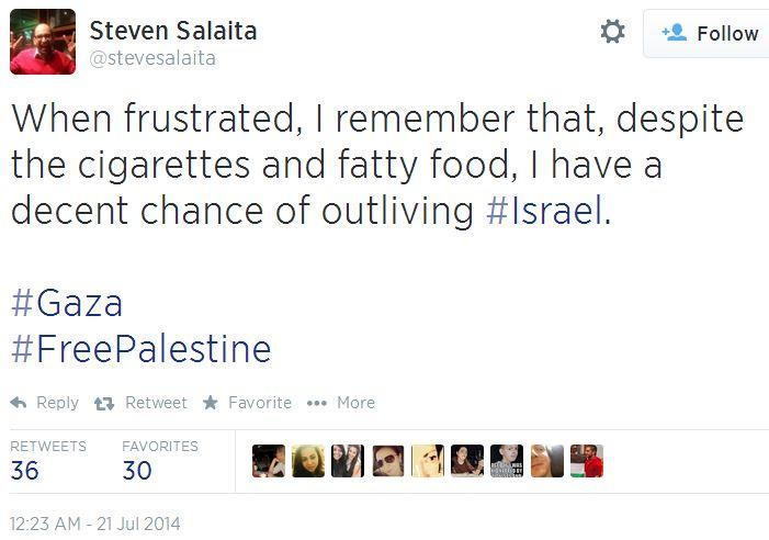 Twitter - @stevesalaita - outlive Israel