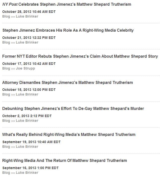 Media Matters Stephen Jimenez ao 10-29-2013