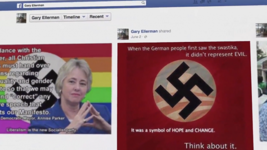 Scott Walker Nazi Mary Burke Swastika Ad