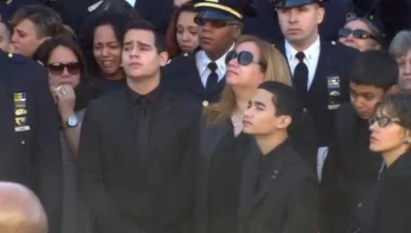 Rafael Ramos family at funeral