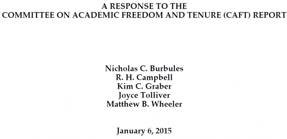 Response from Faculty to CAFT Report Steven Salaita