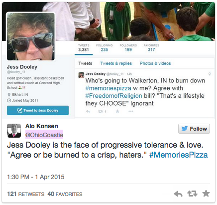 memories pizza arson tweet